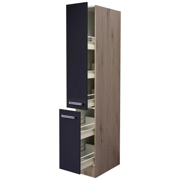 apothekerschrank in anthrazit eiche online kaufen m max. Black Bedroom Furniture Sets. Home Design Ideas
