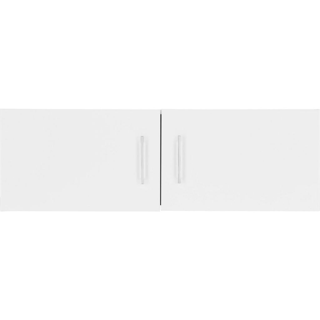 Aufsatzschrank in Weiß 2-türig