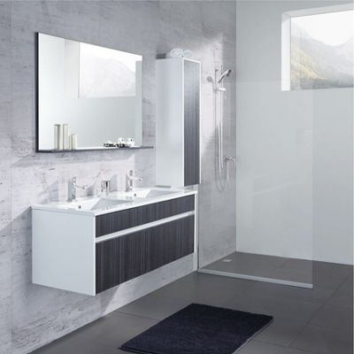 Badezimmer Massimo   Dunkelgrau/Weiß, MODERN, Glas/Holzwerkstoff   MÖMAX  Modern Living