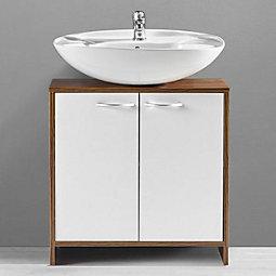 Badezimmerunterschrank Milano   Braun/Weiu0026szlig;, MODERN,  Holzwerkstoff/Kunststoff (60/
