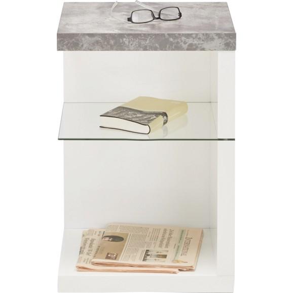 beistelltisch in wei grau online kaufen m max. Black Bedroom Furniture Sets. Home Design Ideas