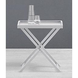 Beistelltisch Klipp - Grau, KONVENTIONELL, Holzwerkstoff (55,50/62/35cm) - MODERN LIVING