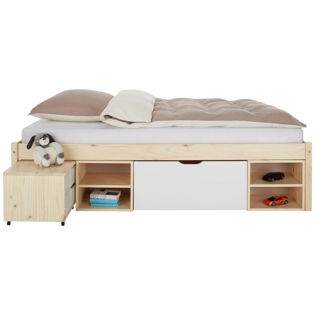 Bett aus Kiefer, ca. 140x200cm