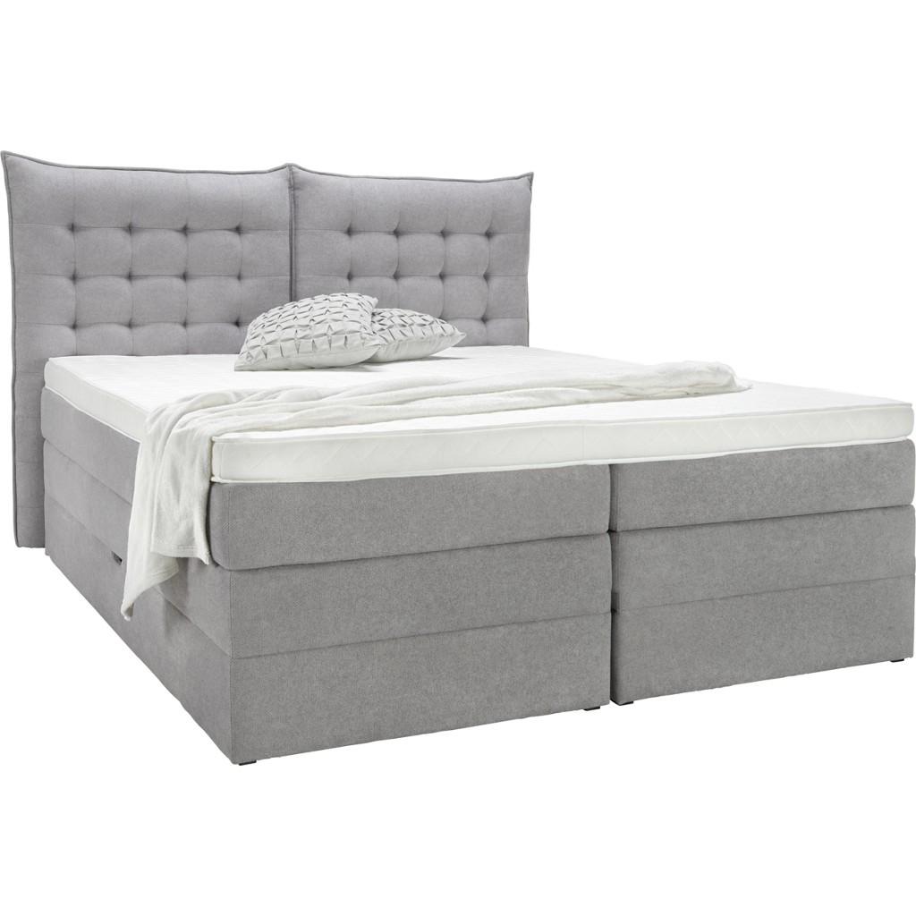 Bett in Grau, ca. 180x200cm