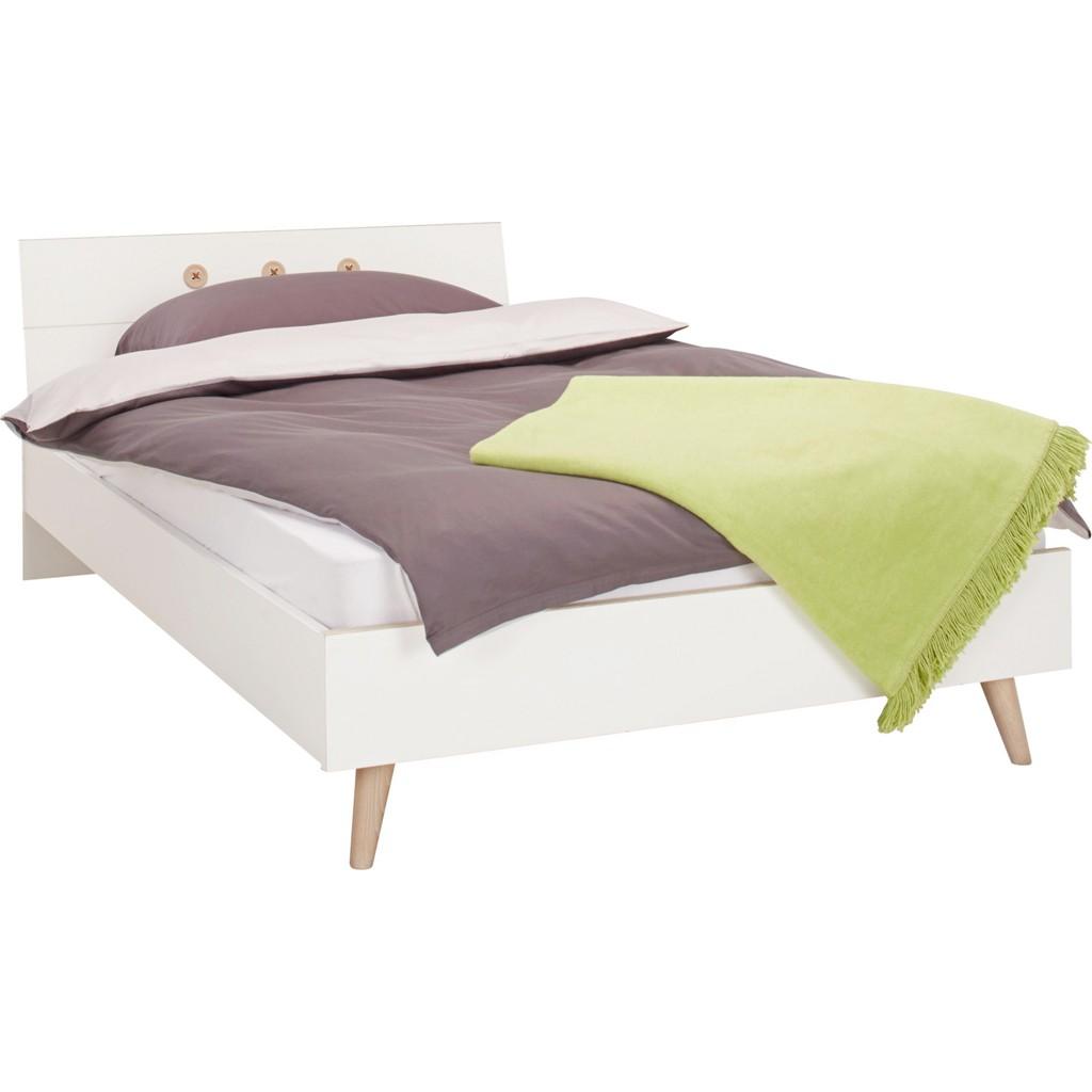 Bett in Weiß, ca. 140x200cm