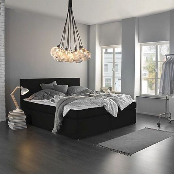 boxspringbett lucy in schwarz ca 180x200cm online kaufen m max. Black Bedroom Furniture Sets. Home Design Ideas