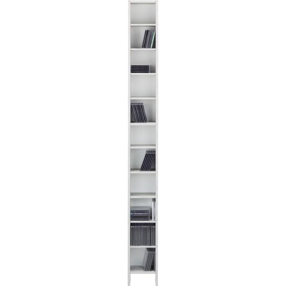 cd regal in grau wei online kaufen m max. Black Bedroom Furniture Sets. Home Design Ideas