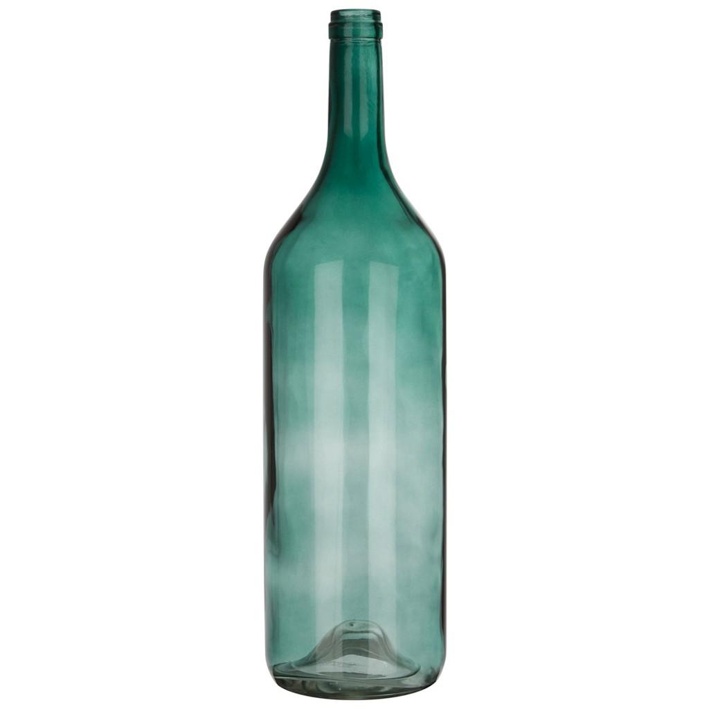 Dekoflasche Estelle in Grün aus Glas