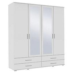 schrank wei. Black Bedroom Furniture Sets. Home Design Ideas