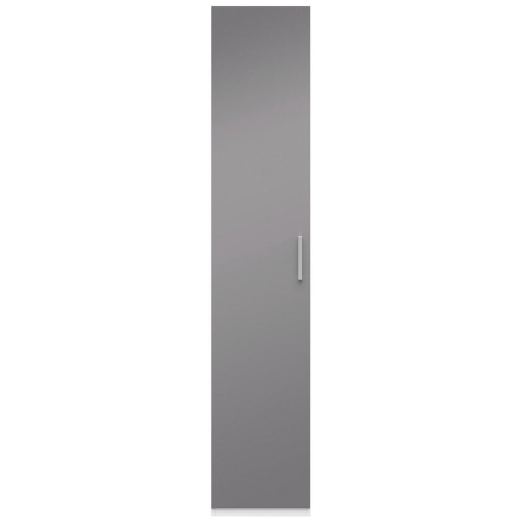 Drehtürenschrank In Grau/Weiß