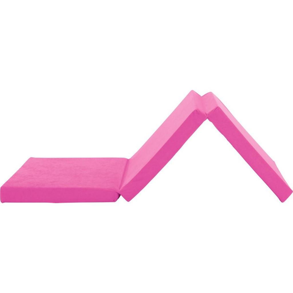 Faltmatratze in Pink ca. 65x185cm