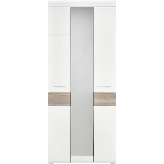 garderobenschrank in silbereiche wei online kaufen m max. Black Bedroom Furniture Sets. Home Design Ideas