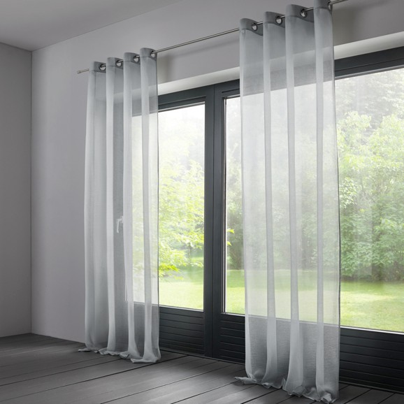 gardinenschal mit sen ilianka in hellgrau online kaufen m max. Black Bedroom Furniture Sets. Home Design Ideas