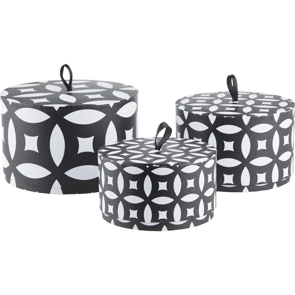Geschenkbox Ethno in Schwarz/Weiß