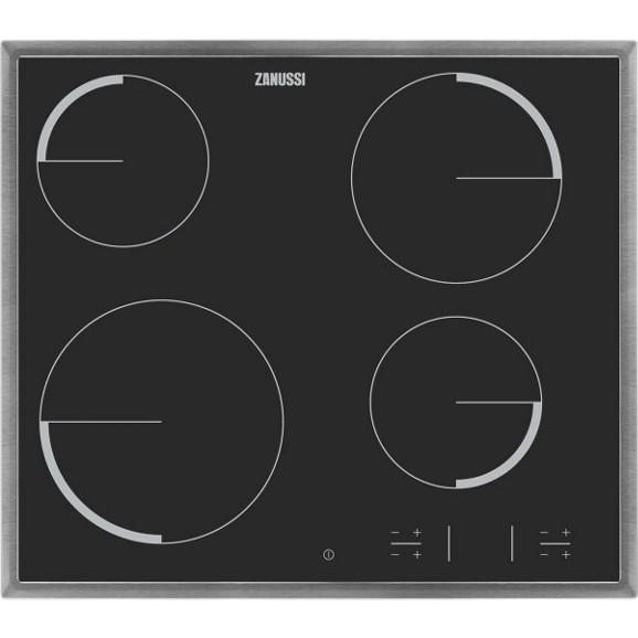 glaskeramikkochfeld zanussi zev6340xba 4 kochzonen online. Black Bedroom Furniture Sets. Home Design Ideas