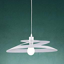 Hängeleuchte Angelo - Weiß, MODERN, Metall (48/13cm) - MODERN LIVING