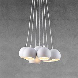 Hängeleuchte Emanuella - Weiß, MODERN, Metall (15cm) - MODERN LIVING