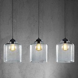 Hängeleuchte Estera - MODERN, Glas/Metall (95/24/120cm) - premium living