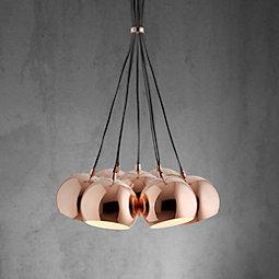 Hängeleuchte Gloria - Kupferfarben, MODERN, Metall (45/45/120cm) - MÖMAX modern living