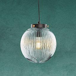 Hängeleuchte Jasper - Klar, MODERN, Glas/Metall (20/120cm) - MODERN LIVING
