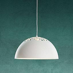 Hängeleuchte Marit - Weiß, MODERN, Metall (40/120cm) - MODERN LIVING