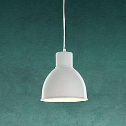 Hängeleuchte Nessaja - Weiß, MODERN, Metall (21,5/130cm) - MODERN LIVING