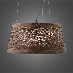 Hängeleuchte Rope - Braun, MODERN, Kunststoff/Metall (40/22cm) - MÖMAX modern living