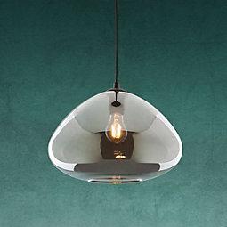 Hängeleuchte Santiago - Schwarz, MODERN, Glas/Metall (30/175cm) - MODERN LIVING