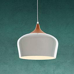 Hängeleuchte Tess - Naturfarben/Weiß, MODERN, Metall (30/120cm) - MODERN LIVING