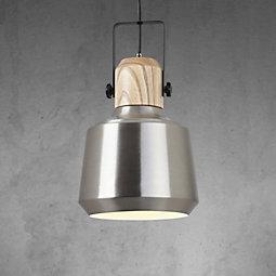 Hängeleuchte Vilma - Silberfarben, MODERN, Holz/Metall (24/100cm) - MÖMAX modern living