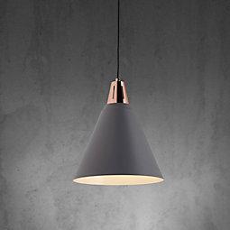 Hängeleuchte Xander - Grau/Kupferfarben, MODERN, Metall (31/31/120cm) - MÖMAX modern living