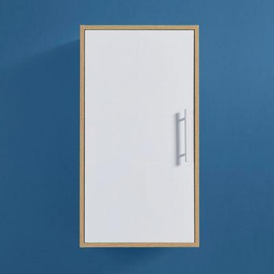 Hängeschrank Lilja   Naturfarben/Weiß, MODERN, Holz (45/80/35cm