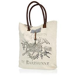 Handtasche Cotton Canvas - Beige/Schwarz, LIFESTYLE, Textil (40/43cm) - MÖMAX modern living