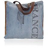 Handtasche France - Blau/Schwarz, Textil (40/46cm) - MÖMAX modern living
