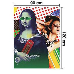 Keilrahmenbild Mona 120x90 cm - Multicolor, Holz/Textil (90/120cm) - MÖMAX modern living
