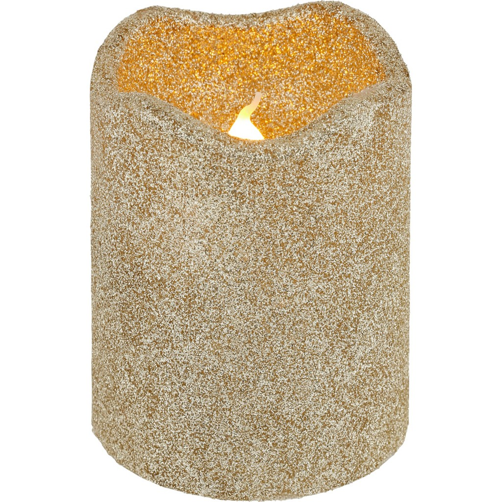 Kerze mit Led Marie in Gold