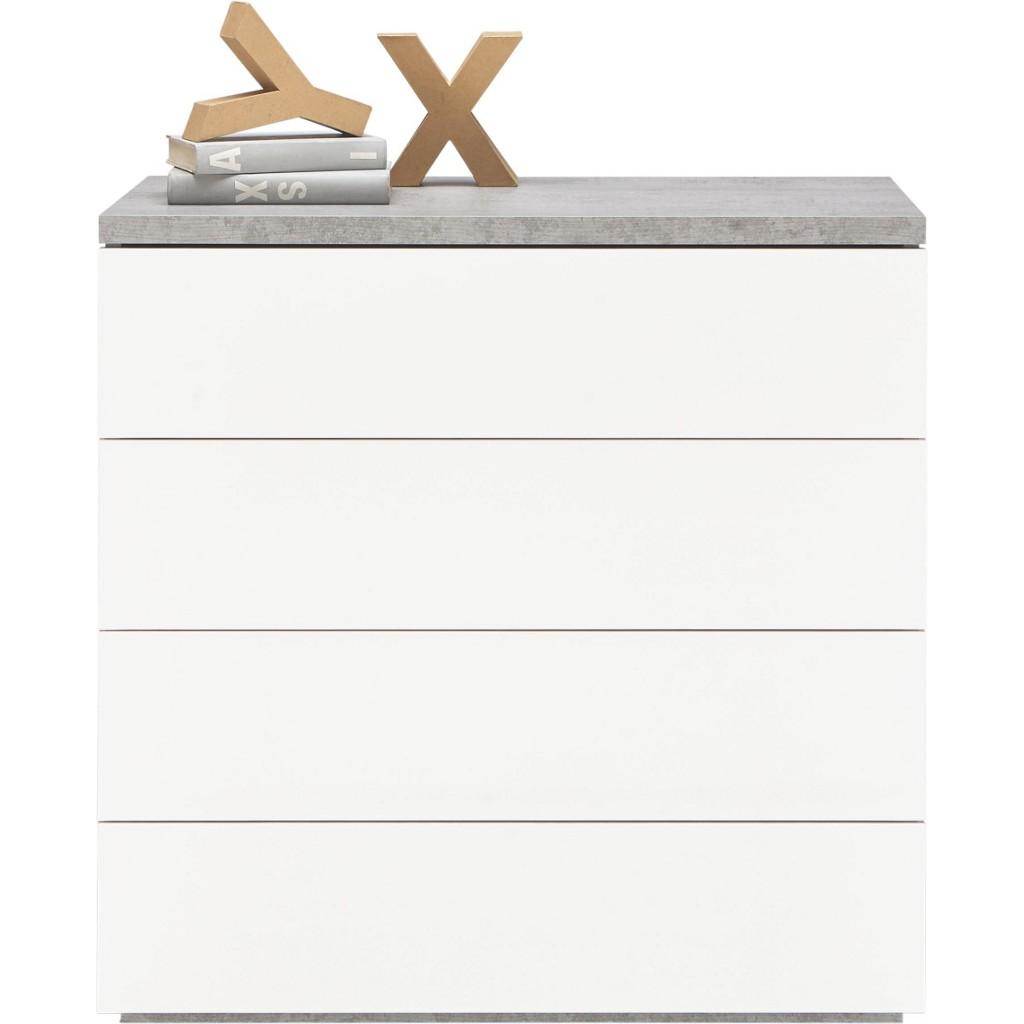 Kommode in Grau/Weiß