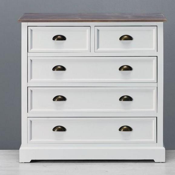 kommode in wei mit holz cookie online kaufen m max. Black Bedroom Furniture Sets. Home Design Ideas