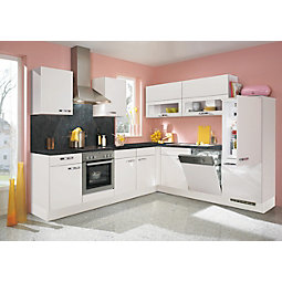 Kotna Kuhinja Flash - barve hrasta/bela, Moderno, leseni material (275/245cm)
