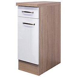Küchenunterschrank in Weiß/Eiche online kaufen ➤ mömax | {Küchen unterschrank 32}