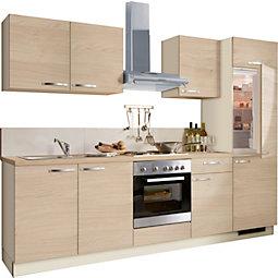 Kuhinjski Blok Plan - barve hrasta/bež, Moderno, umetna masa/leseni material (280cm)