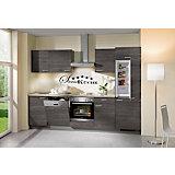 Kuhinjski Blok Plan - siva/barve hrasta, Moderno, umetna masa/leseni material (280cm)