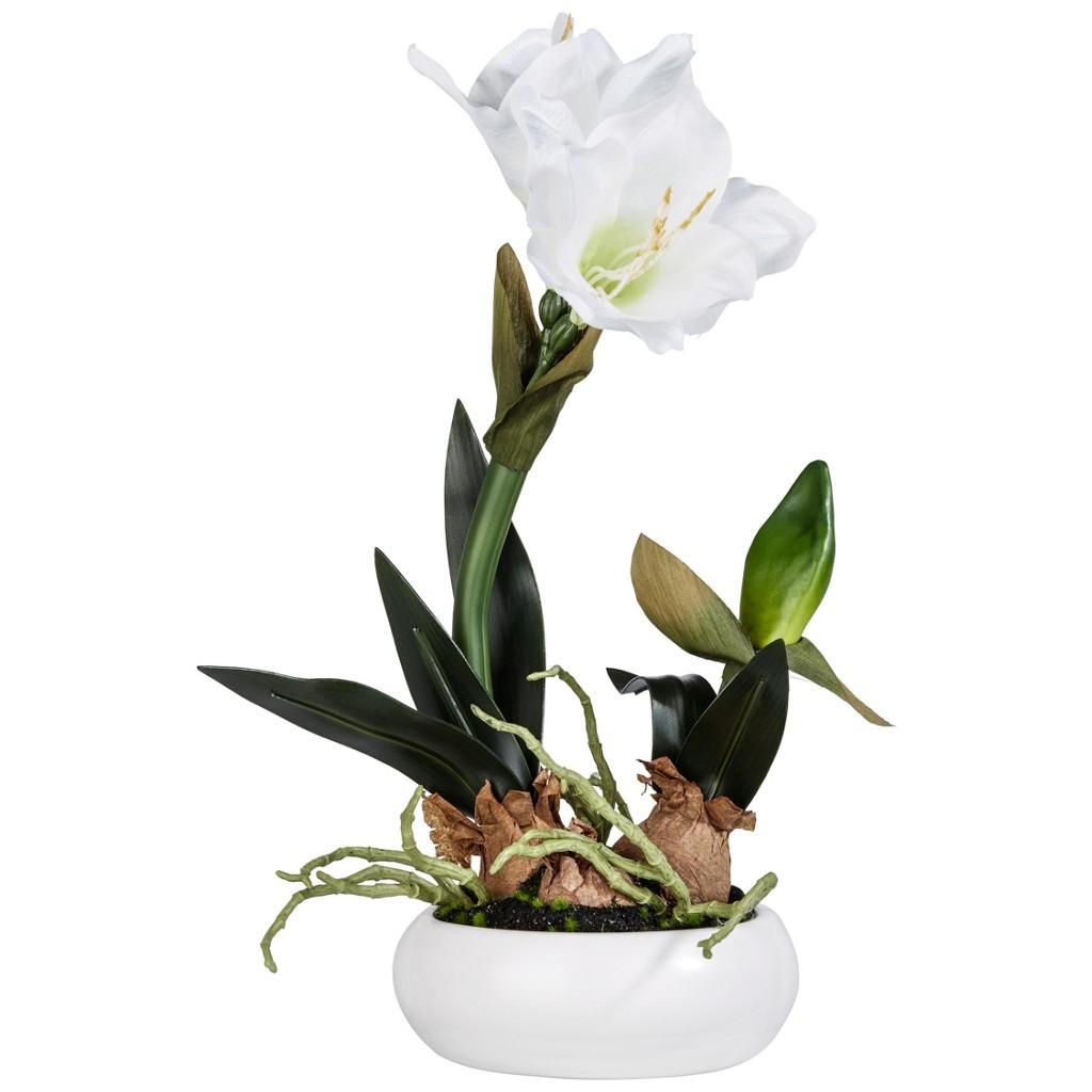 Kunstblume Vera in Weiß