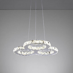 Led Designleuchte Charlott - Edelstahlfarben, MODERN, Kunststoff/Metall (47/47/150cm) - MÖMAX modern living