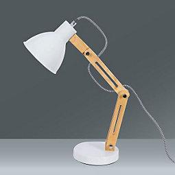 Namizna Svetilka Omar - barve hrasta/bela, Trendi, kovina/les (20/47cm) - MÖMAX modern living