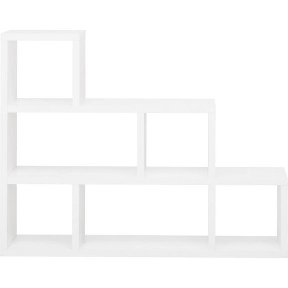 raumteiler in wei mit 6 f chern online kaufen m max. Black Bedroom Furniture Sets. Home Design Ideas