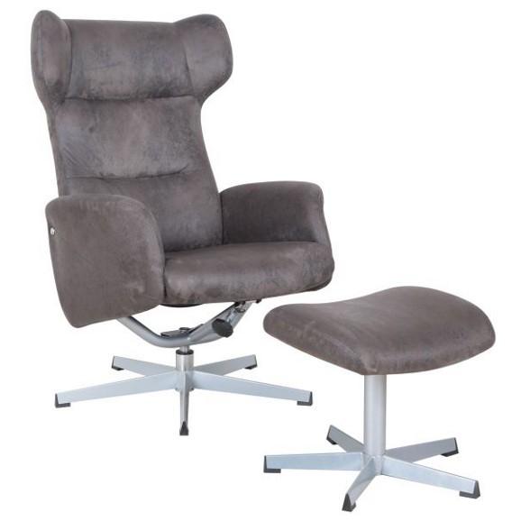 relaxsessel in braun silberfarben online kaufen m max. Black Bedroom Furniture Sets. Home Design Ideas