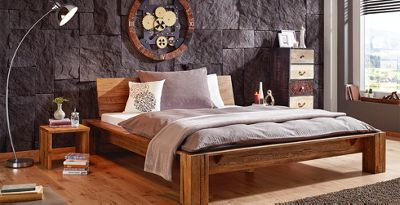 Great Holzbett Aus Eiche Mit Passendem Nachttisch Von Mu0026ouml ... Nice Look