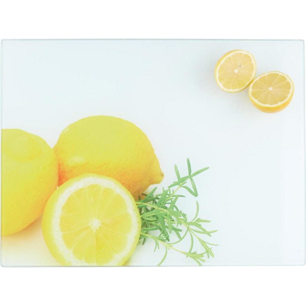 Schneidebrett Zitrone aus Glas