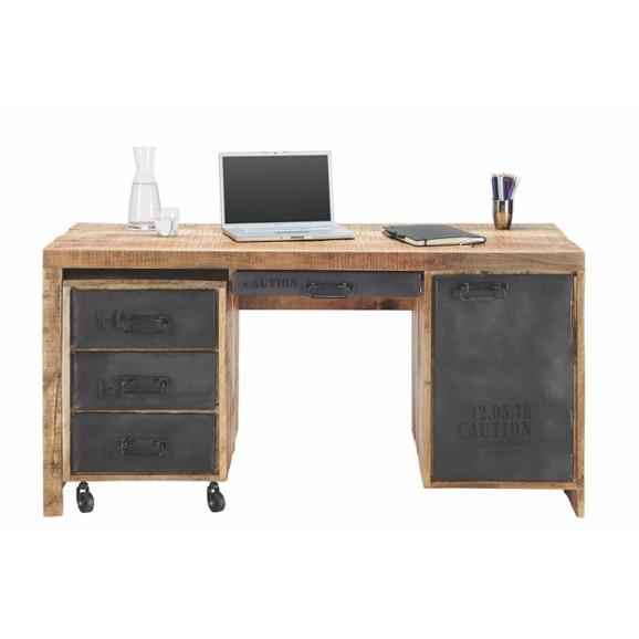 Schreibtisch in mango massiv online kaufen m max for Schreibtisch 150